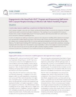 UVA Culpeper Hospital: HELP Facilitates Staff SPH Protocol